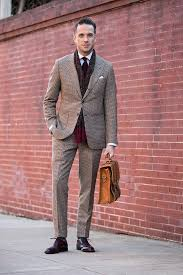 Mens Houndstooth Suit Winter Outfit Ideas For Business