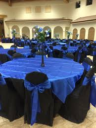 Jasmine Quinceanera Hall Decor Royal Blue Black Star Theme