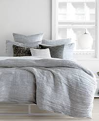 DKNY City Pleat Gray Duvet Covers Bedding Collections Bed