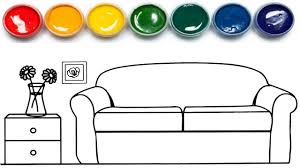 Household Items Coloring Page