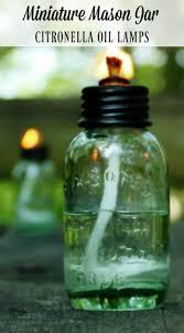 Citronella Lamp Oil Amazon by Miniature Mason Jar Citronella Oil Lamps For A Cabin Weekend