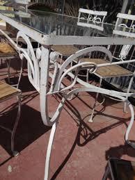 Salterini Iron Patio Furniture by Salterini 1928 1953 Wrought Iron Outdoor Patio Furniture F635