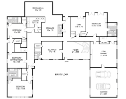 Fresh Single Level Ranch House Plans by Smartness Ideas One Story House Plans With Attached Garage 9 Ranch