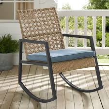 Outdoor Patio Rattan Rocking Chair | Free Shipping