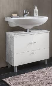 wilmes waschbecken unterschrank 2 trg und 1 klappe farbe beton weiß melamin nachbildung maße 60 cm x 54 cm x 32 cm 85003 57 0 75