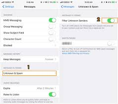 How to Block Filter Text Messages on iPhone X 8 in iOS 11