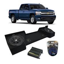 2007-2013 Chevy Silverado Ext Cab Truck Kicker Comp C10 Dual 10