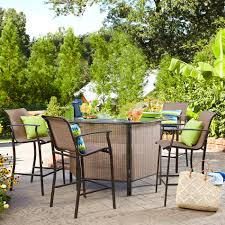 5 Piece Bar Height Patio Dining Set by Garden Oasis Harrison 5 Piece Bar Set Limited Availability