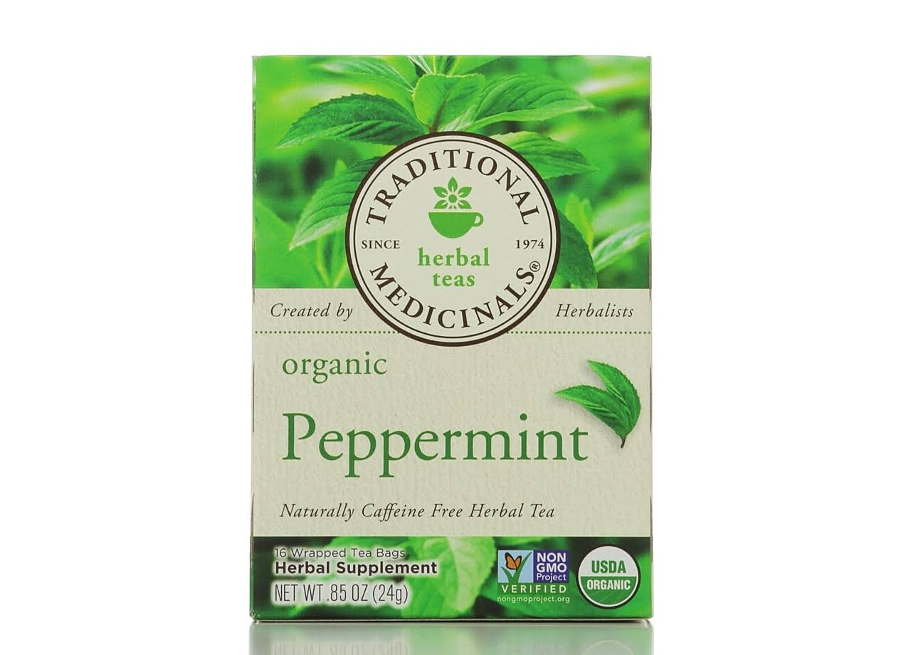 Traditional Medicinals Herbal Tea - Peppermint, 16 Tea Bags