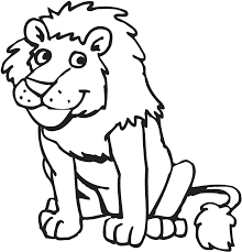 Lion Preschool Coloring Pages Zoo Animals