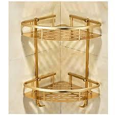 show eckablage duschkorb duschablage badezimmerablage ablage aluminium duschregal eckregal ecke etagen dusche organizer eckversion gold