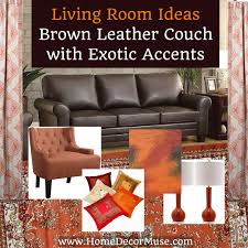 Brown Leather Couch Living Room Ideas by Living Room Inspiration Brown Leather Couch With Exotic Accents