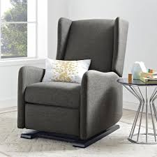 Gray Nursery Chair Nursery Room Chair Upholstered Glider Chair With ... Living Room Exciting Rockers Gliders Ottomans Recling Rocking Chair With Ottoman Lacaorg Harriet Bee Hemsworth Glider Recliner Ottoman Wayfair Matching Adams Fniture Smothery And Chair Rocker Then Baby Latitude Run Sao Recling Massage Reviews Artage Intertional Emma And Stoney Creek Hcom 2 Piece Rocking Set White Aosom 100 With Amazoncom Dutailier Sleigh Glidermulposition Recline Essential Home