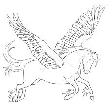 Unicorn With Wings Coloring Pages And
