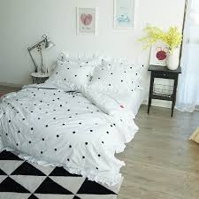 polka dot bedding sets queen size embroidery duvet cover twin
