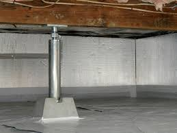 crawl space jacks installed by authorized foundation contractors