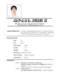 Filipino Nurse Resume Sample Awesome Collection Of For Secondary Teacher In The On Form