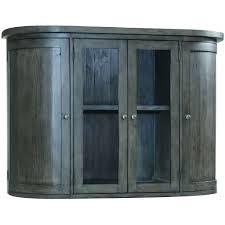 Reclaimed Wood 2 Door Glass Hutch