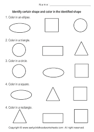 Shapes Coloring Pages For Preschoolers Category Love Color Of Shape Recognition Worksheet On