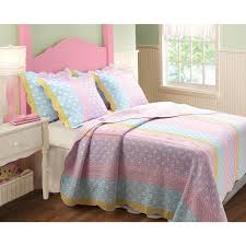 Greenland Home Bedding by Greenland Home Fashions Polka Dot Stripe 3 Piece Quilt Set Free