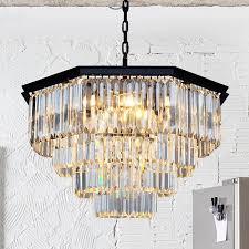 nordischen landhausstil einfache retro octagonal kristall le wohnzimmer esszimmer schlafzimmer kronleuchter e14 führte hängende le licht