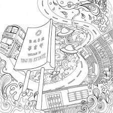 Cities Adult Coloring Book 9789881430243