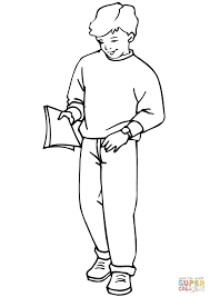 Click The School Boy Coloring Pages