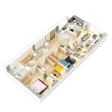 3D Floor Plans On Behance 3D Interiors In 2019 Home Design Plans