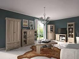 wohnzimmer komplett set a sentis 7 teilig farbe eiche