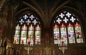 vitraux de la chapelle sainte geneviève photo de église
