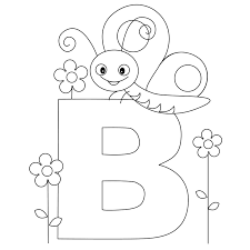 Letter B Coloring Pages Archives Throughout Page