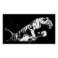 Tiger Attacking Poster Print