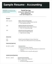Sample Resume Graduate Student
