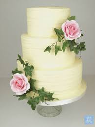 Beautiful Rustic Wedding Cake Decorated With Handmade Sugar Roses By Bath Company