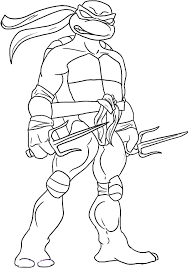 Teenage Mutant Ninja Turtles Sai Is Raphael Weapon Of Choice Coloring Page