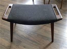 Hans Wegner Papa Bear Chair Leather by 1950s Signed Hans Wegner Ottoman For Papa Bear Chair Original Mid