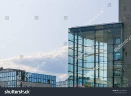100 Poland Glass Buildings Annex Transparent Block Copy Stock Photo