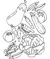 Wide Variety Of Healthy Food Vegetables Coloring Pages
