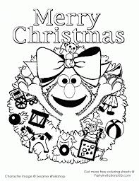 Sesame Street Christmas Coloring Pages 1