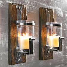 wandkerzenhalter wood wandleuchter wanddeko teelichthalter