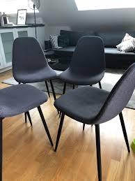 esszimmerstühle grau mit schwarzen beinen in 82256