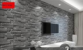 moderne tapete mit gestapeltem ziegelstein 3d stein rolle