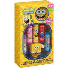 Spongebob Bathroom Decor Walmart by Spongebob Squarepants Lip Balm Gift Set 7 Pc Walmart Com