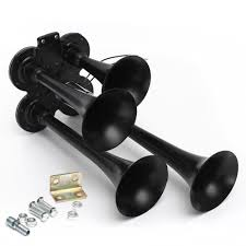 Philippines | Car Truck Black 4-Trumpet 150DB Air Horn Kit + 110PSI ... Universal Fourtrumpet Air Train Horn Kit For Cartruckboat Truck Kit Two Trumpet 110 Psi 12v Dc Compressor Pssure Pair Loud 2 Big Rig Semi Air Horns Viair 150psi Sale Hornblasters Train Horn Install Truckin Magazine 12v Chrome Dual Trumpet Compressor Car Boat Wolo Mfg Corp Air Horns Horn Accsories Comprresors Lumiparty 178db Super Fort Double Trompette Voiture Azir 135db With Two Trumpets And Unique Bargains Sliver Tone Metal Lond Sound 3trumpet 150db 24v Auto Four 4 Alloy Tone Of Texas