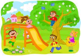 Clipart Kids Playing Outside