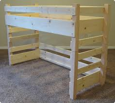 build two loft beds side by side using crib mattresses bunk