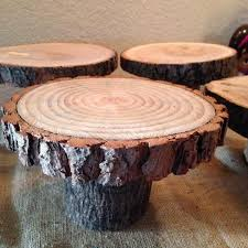Rustic Wooden Cake Stands