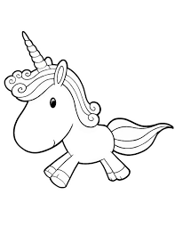 612x792 Cute Unicorn Printable Coloring Pages