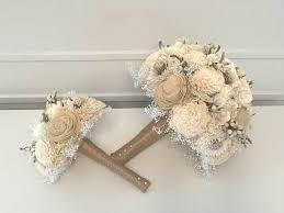 Rustic Wedding Bouquet Made With Sola Flowers