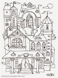 Coloring Cool Haunted House Pages 100 And Printables